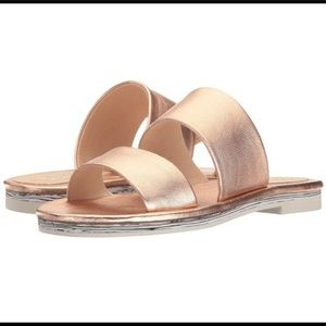 Shelleys London Metallic Slide Sandals